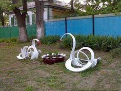 Reciclar rueda de auto para Jardin