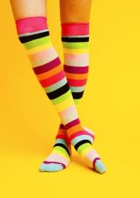 Stripey over-the-knee socks