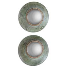 Check out the Uttermost 13860 Forbell Aged Round Mirror - Set of 2