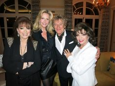 With Rod & Penny Stewart, and Joan