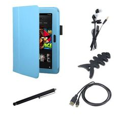 EEEKit Starter Kit for Kindle Fire HD 8.9 Inch Accessory Bundle, Stand Case Cover Light Blue + Stylus Pen + Universal Earphone + Fishbone Wrap + Micro HDMI Cable(6 Feet) by EEEKit. $17.11. Buy as a kit and save! Have bought a Kindle Fire HD Inch, now what? This affordable package is a quick and easy way to get started, with everything you need to make the most of your tablet when you working and relaxing outside. The Case not only can provide your Fire HD, but also...