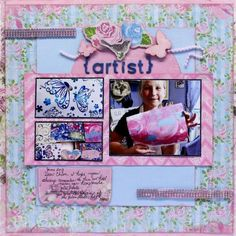 """Scraps of Elegance Kit Club - layout created by Pat B. with the July """"Home Sweet Home"""" kit."""