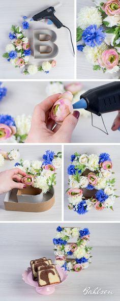 Diese süße Bastelidee mit Frühlingsblumen sorgt für gute Laune! // This cute flower DIY idea will bring spring to your life immediately! #spring #DIY #basteln #Bahlsen #LifeIsSweet