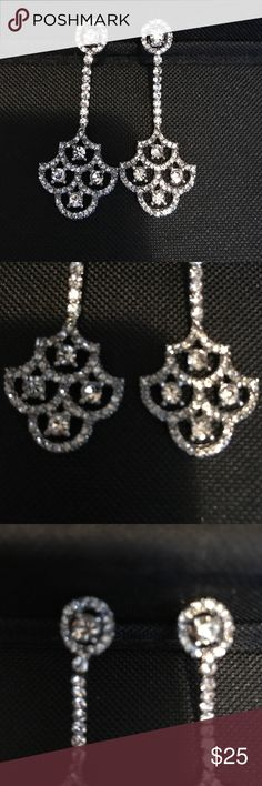 Davids Bridal earrings, never worn Davids Bridal earrings never worn, bought for my wedding but borrowed earrings instead Davids Bridal Jewelry Earrings