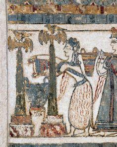 Σαρκοφάγος της Αγίας Τριάδας, λεπτομέρεια. 1350-1300 π.Χ. Αρχαιολογικό Μουσείο Ηρακλείου Vintage World Maps, Wordpress