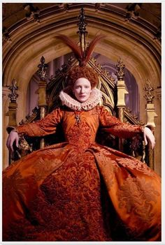 Kate Blanchet as Elizabeth I in the movie Elizabeth, one of my favorite movies of all time.