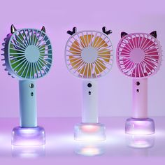 Mini Portable Fan Handheld Mini Fan With USB Rechargeable 800 MAh Battery Detachable Base For Travel Camping 3 Speeds 3.5 Hours 4 Colors USB Fan for Travel Office Color : Yellow , Size : Free size