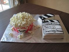 Birthday Cakes for Kids' Parties: A Movie Cake for an 11 Year Old's Film-Themed Birthday Party