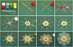 Veving av mandala med egne hender: En enkel teknikk og tips for nybegynnere Rope Crafts, Diy Home Crafts, Diy Arts And Crafts, Yarn Crafts, Diy Crafts To Sell, Diy Crafts For Kids, Handmade Crafts, Weaving Projects, Weaving Art