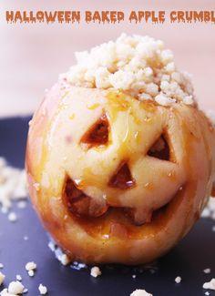 Halloween Jack-O'-Lantern Baked Apple Crumbles! – Bakelife