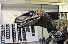 The Velociraptors from JURASSIC PARK came to life through a variety of special effects techniques, including using a man in a suit.