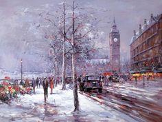 Winter Skies [Henderson Cisz-A363] - $500.00 painting by oilpaintingsartmaker.com