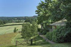 Fair Oak Farm - Eco-Lodge Tree Houses.  Available for short lets.  www.fairoakfarm.co.uk Country Estate, Country Farm, Country Roads, Weekend Breaks, Weekend Trips, Outdoor Sauna, Fair Oaks, Valley View, East Sussex
