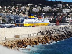 Nice / France harbour with ferry to Sardinia and Corsica