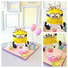 Minion cake for girl
