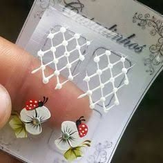 No automatic alt text available. 3d Nail Art, 3d Nails, Lace Nails, Blogger Themes, Manicure And Pedicure, Hair And Nails, Nail Designs, Stickers, Floral