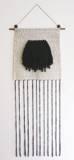 Fiber Art weaving by Barbara Rourke www.allthebellsan… Tejido Fiber Art de Barbara Rourke www. Weaving Textiles, Weaving Art, Tapestry Weaving, Loom Weaving, Hand Weaving, Weaving Wall Hanging, Tapestry Wall Hanging, Wall Hangings, Textile Design