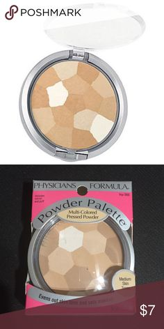 "Powder Palette Multi-Colored Face Powder Physicians Formula powder palette multi-colored face powder for medium skin tones. ""Creamy Natural"" shade. Never been opened. Includes a mirror and puff applicator. Physicians Formula Makeup Face Powder"