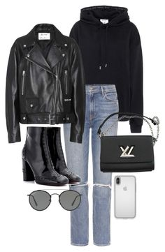 """""""Untitled #22820"""" by florencia95 ❤ liked on Polyvore featuring Acne Studios, GRLFRND, Chloé, Louis Vuitton, Ray-Ban and Speck"""