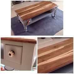Coffee table painted in Annie Sloan Paris Grey