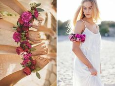 No way, Bouquet! Alternative Bouquet Ideas and Inspiration - Not the flowers Lu, but the idea is good, leaves us one hand to drink with and the other to hold you/your train up!