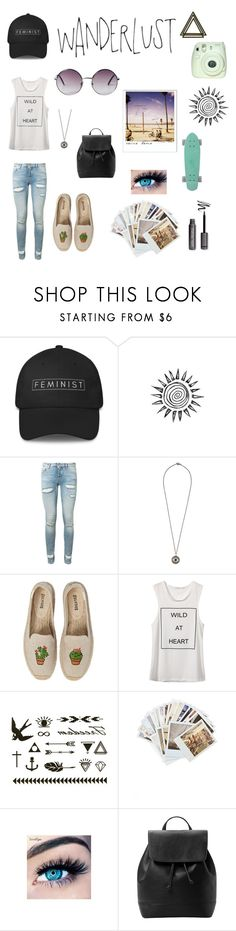 """Skating in Venice -emily angel"" by emilyangel211 ❤ liked on Polyvore featuring Off-White, Ileana Makri, Soludos, Venice Beach, Chronicle Books, MINX, MANGO and Monki"