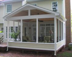 Wonderful Screened In Porch And Deck Idea 31