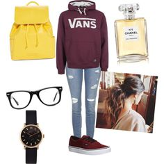 A fashion look from March 2015 featuring Vans hoodies, Topshop jeans and Vans sneakers. Browse and shop related looks.