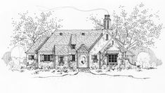 Le Chalet - French country cottage floor plans