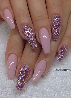 These 17 pink nail designs you'll want to copy will be the envy of every nail lo… – Long Nails – Long Nail Art Designs Pink Nail Designs, Beautiful Nail Designs, Acrylic Nail Designs, Nails Design, Valentine Nail Designs, Rhinestone Nails, Cute Acrylic Nails, Gorgeous Nails, Fabulous Nails