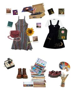 """""""Untitled #102"""" by justpaulla on Polyvore featuring Alexander McQueen, Dr. Martens, Fjällräven, Pier 1 Imports, Retrò, Polaroid and Impossible Project"""
