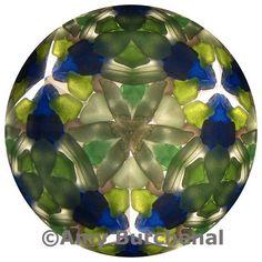sea glass mandala