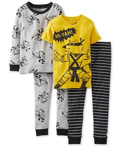 Carter's Little Boys' 4-Piece Fitted Cotton Pajamas - Kids Boys 2-7 - Macy's. Finally a store that ships to Canada... On sale 23.37$ (CAD) until 22/11/2014 + 3% through Ebates.ca... For Émil AND Léonard!
