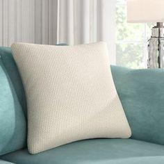 The Twillery Co. Elliott Knit Throw Pillow Cover The Twillery Co. Outdoor Throw Pillows, Decorative Throw Pillows, Pillow Covers Online, Goose Down Pillows, Pillow Room, Knitted Throws, Throw Pillow Sets, All Modern, Floor Pillows