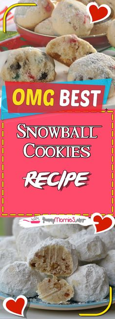 Snowball Cookies Recipe Via #yummymommiesnet #dessert dessert ideas #easyrecipes easy recipes #recipeoftheday recipe of the day #dessertrecipes dessert recipes easy #desserttable dessert table ideas #appetizer appetizer recipes easy