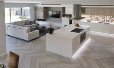 Your home should be your sanctuary. Create a sophisticated, modern living experience with Wisdom Homes today - your trusted home builders in Sydney. Dream House Interior, Home Interior Design, Home Living Room, Living Room Designs, Living Area, Küchen Design, House Design, Open Plan Kitchen Dining Living, Kitchen Design Open