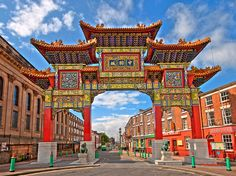 Largest chinese arch in europe Chinese Gate, Liverpool Home, Liverpool England, Travel Photographie, Chinese Architecture, World Cities, England Uk, Old City, Places Around The World