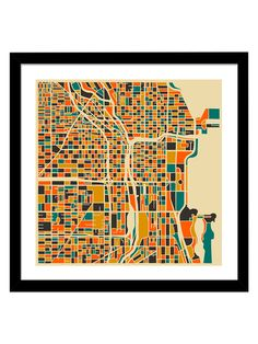 Chicago (2014) by Jazzberry Blue (Framed)