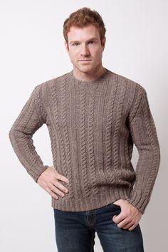 Sweater melange a la base con trabajo de ochos