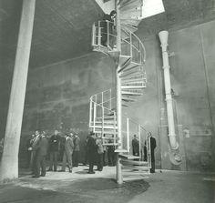 HANNOVER * 1983: Innenaufnahme einer neuen Beton-Kammer des sanierten Wasserhochbehälters Linden vor der Befüllung