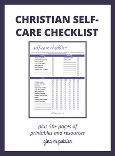 Self-Care Checklist Signup Mental Help, Daily Sun, Overwhelmed Mom, Christian Resources, Track Workout, Release Stress, Anxiety Help, Self Care Routine, Mind Body Soul