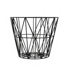 Ferm Livingin Wire kori sopii kodin yleissäilytysastiaksi. Siinä voi säilyttää niin polttopuita, tyynyjä kuin lehtiäkin. Valitse yksi tai yhdistele erivärisiä koreja.