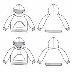 raglan hoodie : K003 Letter Patterns, Sewing Patterns, Overlock Machine, Brindille, Size Chart For Kids, Raglan, Photo Tutorial, Needle And Thread, Big Kids
