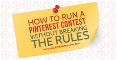 How to Run a Contest Without Breaking the Rules Pinterest Advertising, Pinterest Marketing, Advertising Ideas, Online Marketing, Social Media Marketing, Marketing Strategies, Blogging, Pinterest For Business, Social Media Tips