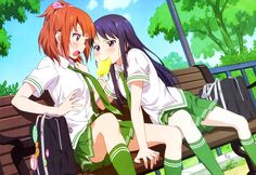 Hey this is my ice cream - Love Lab anime series School Uniform Anime, Anime School Girl, School Uniforms, Anime Girls, Love Lab Anime, Lab Image, Free Wallpaper Backgrounds, Anime Sensual, Image Icon