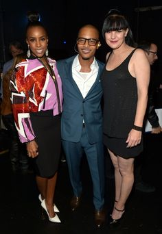 "Kelly Rowland, T.I. and Pauley Perrette backstage at ""The GRAMMY Nominations Concert Live!! — Countdown To Music's Biggest Night"" on Dec. 6 in Los Angeles"