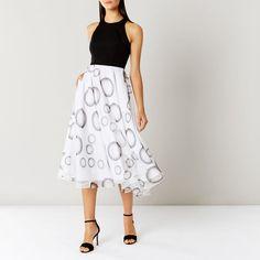 0bb3c31b Coast Kadence Spot Midi Dress Black/White Size UK rrp 169.00 SA172 BB 11 #