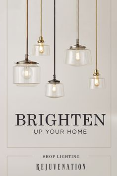 Kitchen Lighting Rejuvenation offers customizable, handcrafted lighting for a variety of spaces. Tap the Pin to shop now.