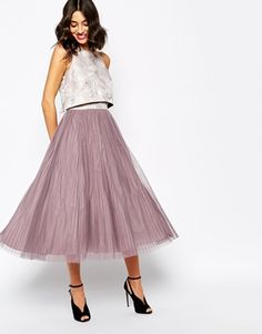 Coast Harven Dress with Pleated Skirt