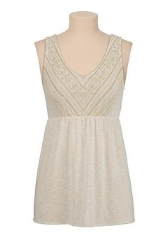 Bar back puff paint tank (original price, $26) available at #Maurices